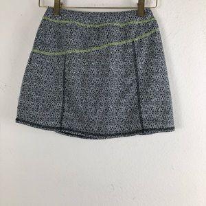 L.L BEAN BLACK,Green,White Sport Skirt Geometric